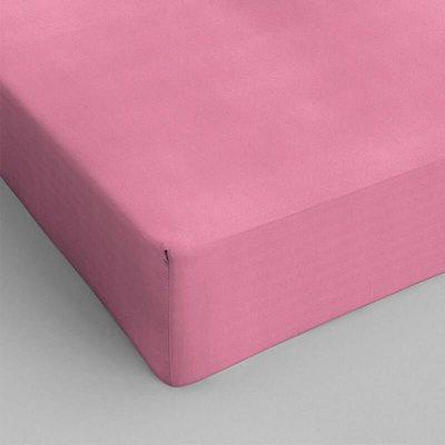 Hoeslaken Katoen - Roze
