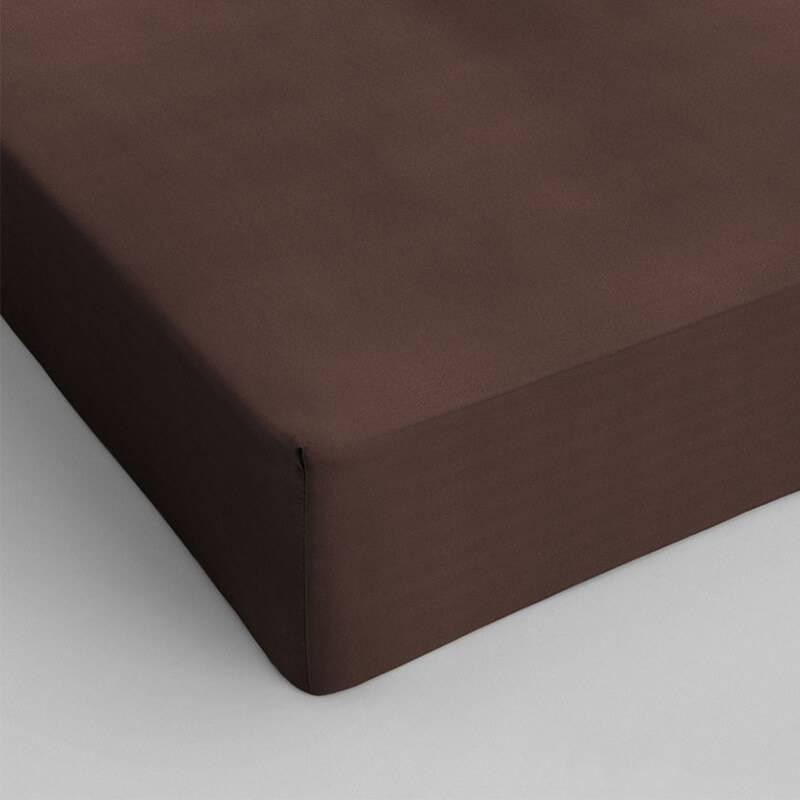 DreamHouse Bedding Verkoelend Hoeslaken Katoen - Bruin 90 x 220