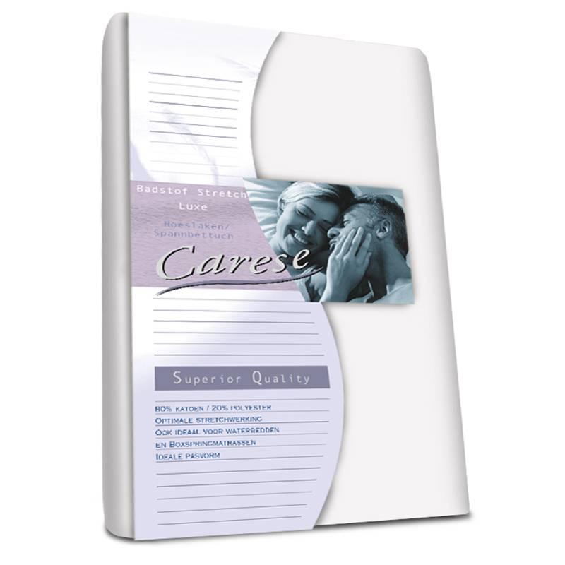 Productafbeelding voor 'Carese Luxe Badstof Hoeslaken - Stretch - Wit 160 x 200/220'