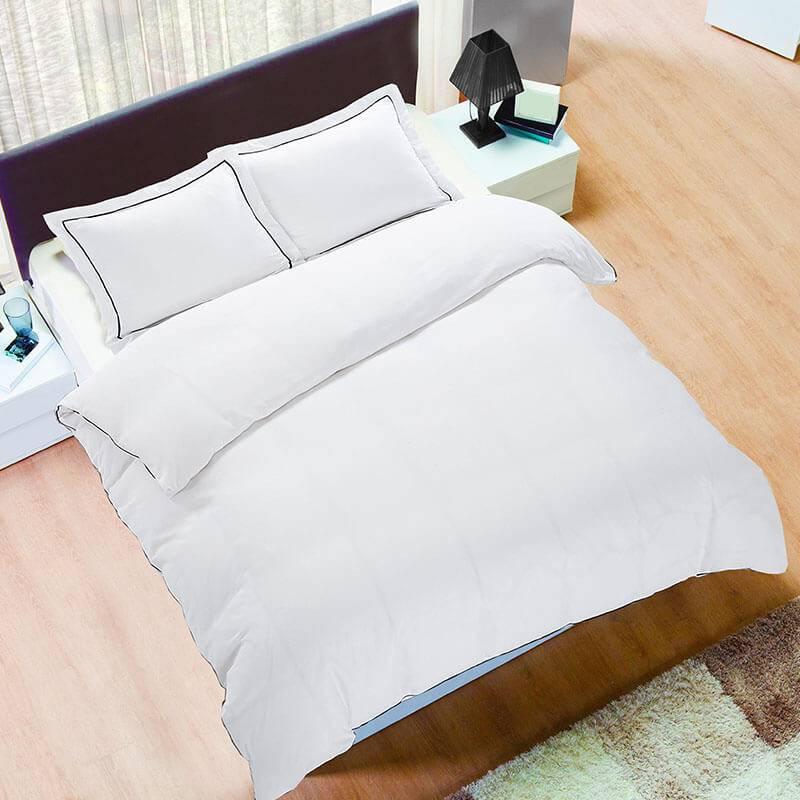 Hotel Home London - Wit Lits-jumeaux (240 x 200/220 cm + 2 kussenslopen) Dekbedovertrek