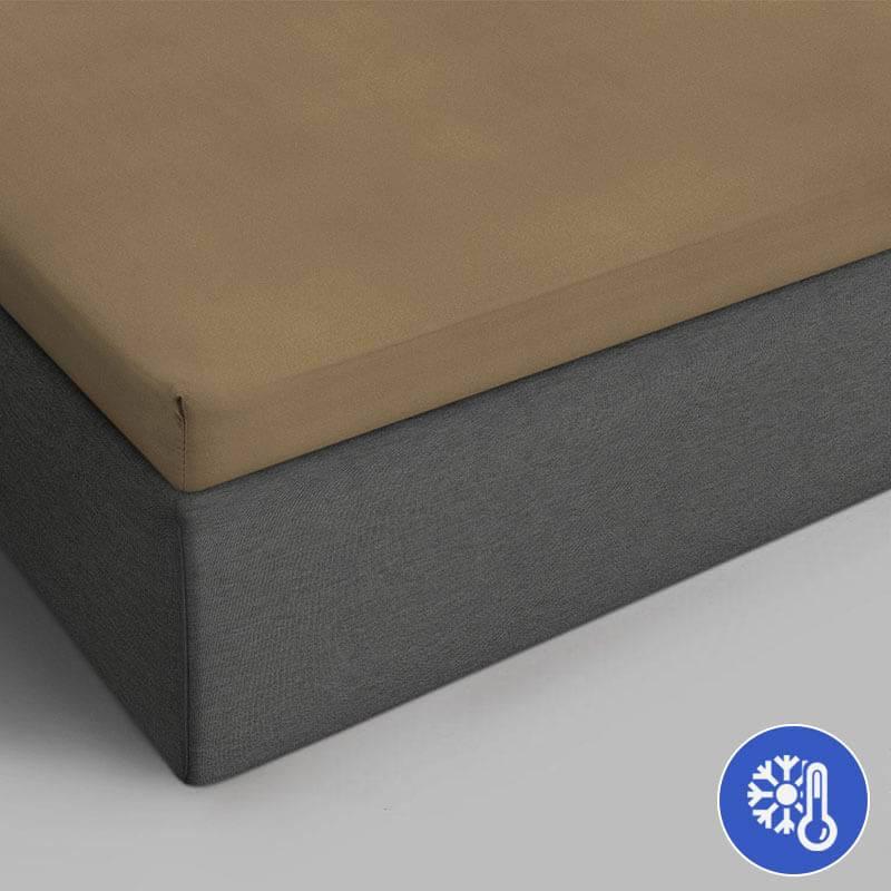 Productafbeelding voor 'DreamHouse Bedding Katoenen Topper Hoeslaken - Taupe 180 x 220 Dekbedovertrek'