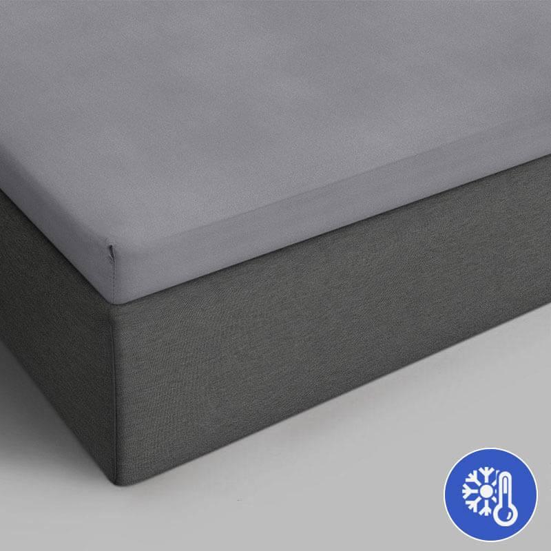 Productafbeelding voor 'DreamHouse Bedding Katoenen Topper Hoeslaken - Grijs 90 x 200 Dekbedovertrek'