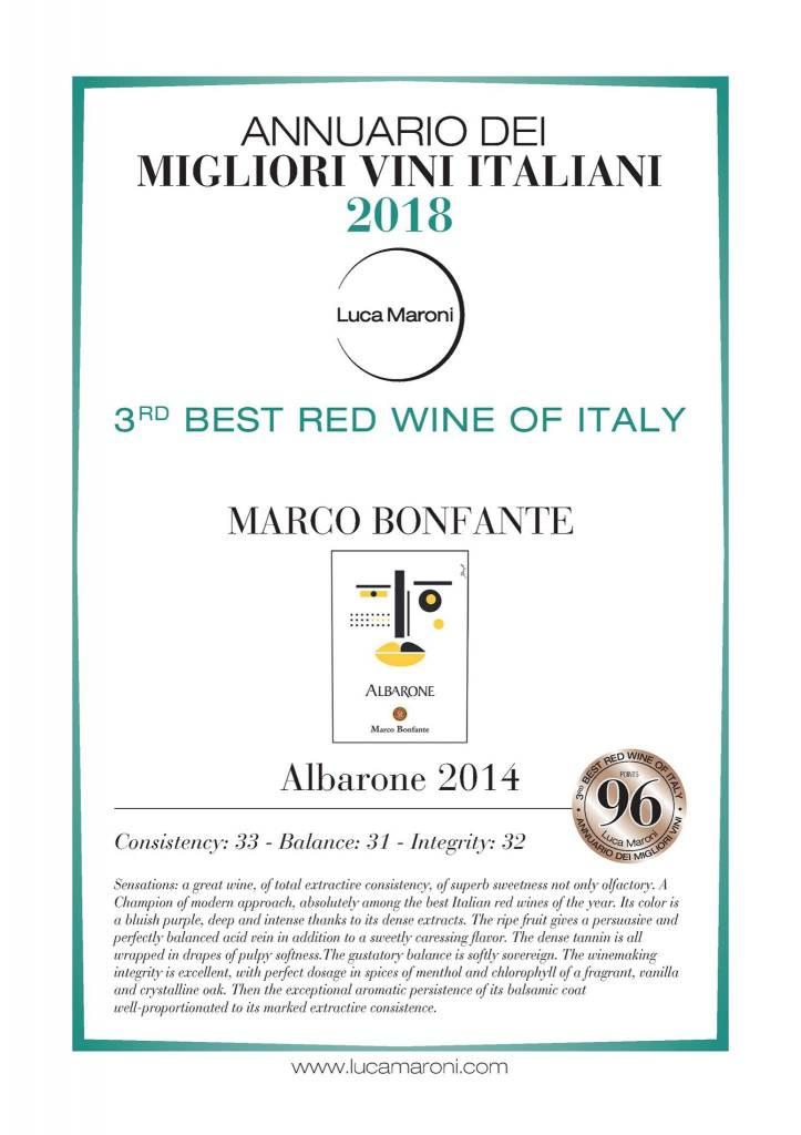 Albarone 2014 door Luca Maroni wederom goed beoordeeld