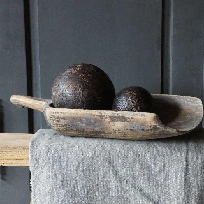 Wood, leather & Iron Balls