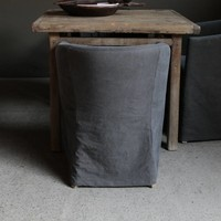 Tub Stuhl mit Stonewash-Bezug