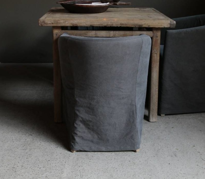 Cushion chair with stonewash cover
