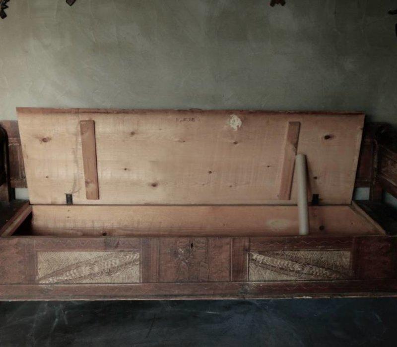 Antiek houten klepbank