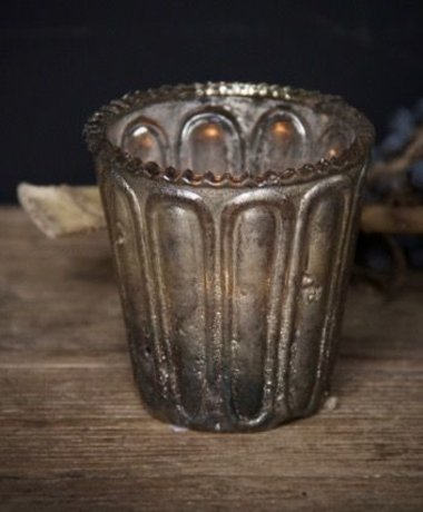 waxine/ windlichtje Shabby copper