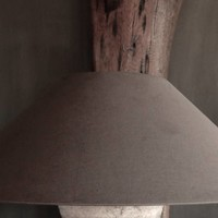 Schuine Linnen kap XL in de kleur Soil