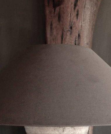 Linnen kap XL in de kleur Soil
