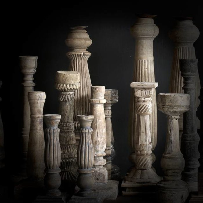 Holz Kerzenständer