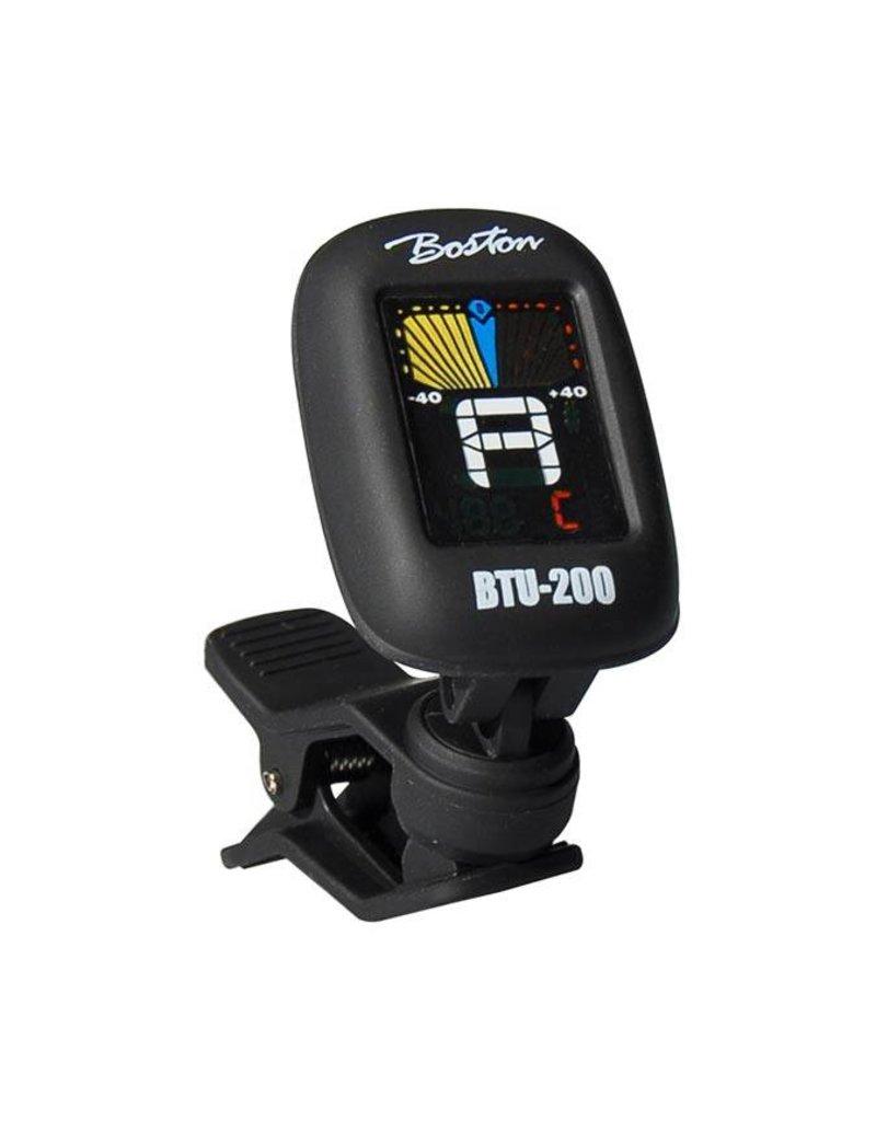 Boston BTU-200 chromatische clip-on tuner (ook G+B+U+V) full colour display