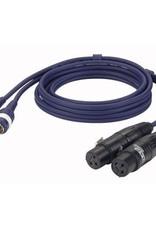 Dap Audio FL25 - 2x XLR Female L/R > 2x Tulp L/R