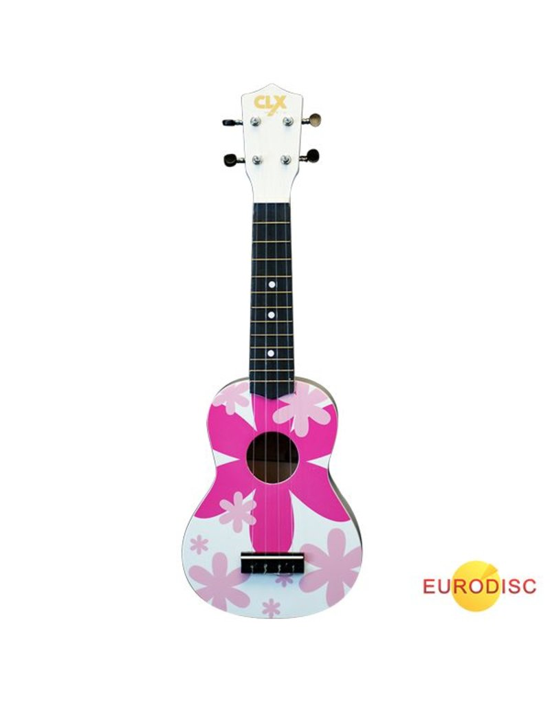 CLX Ukelele - bloem roze