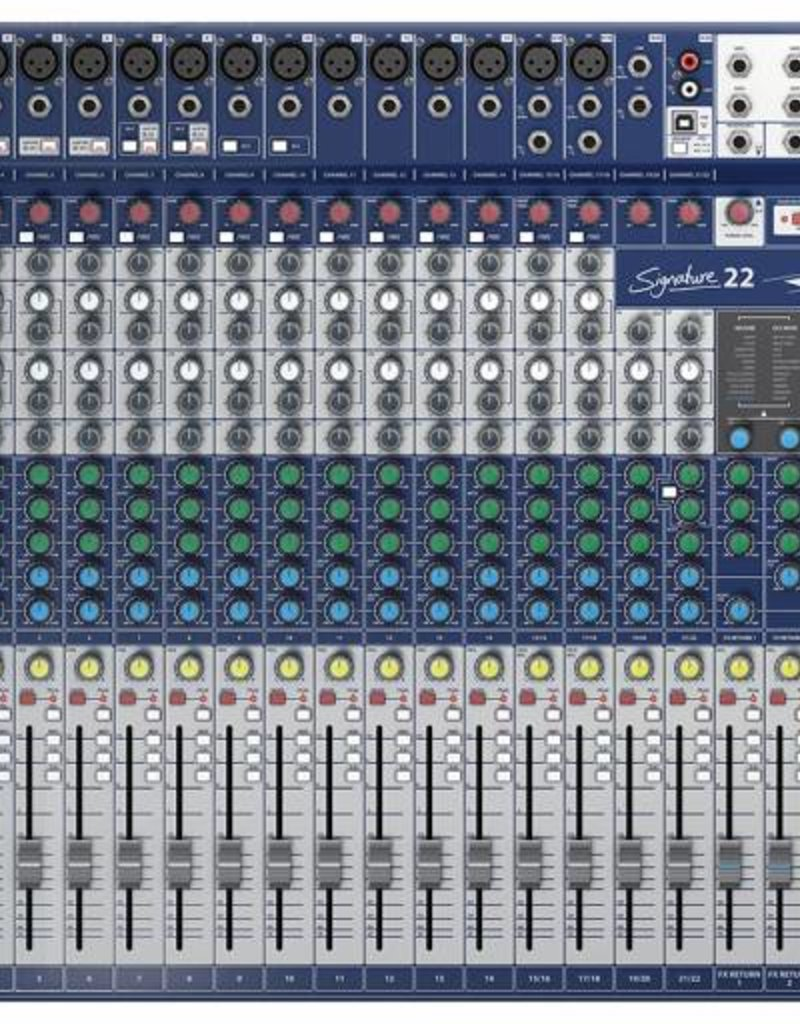 Soundcraft Signature 22 analoge mixer