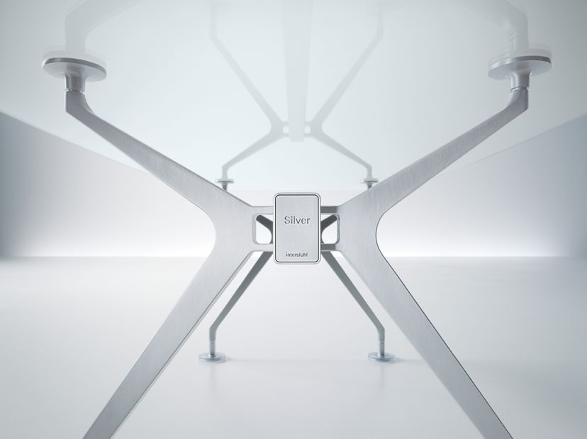 interstuhl silver bureau ex cutif argent en verre brand new office. Black Bedroom Furniture Sets. Home Design Ideas