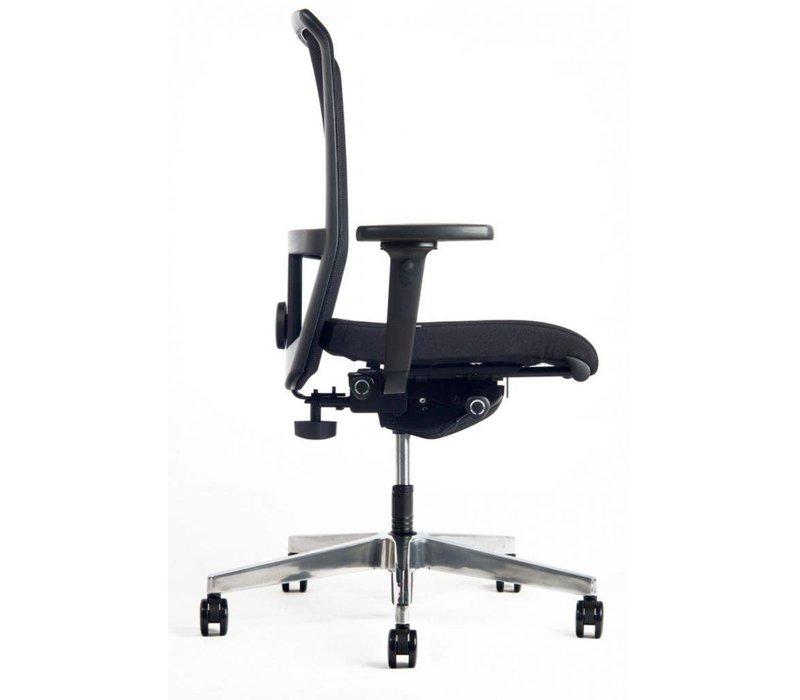 Chaise de bureau Net avec accoudoirs - noir