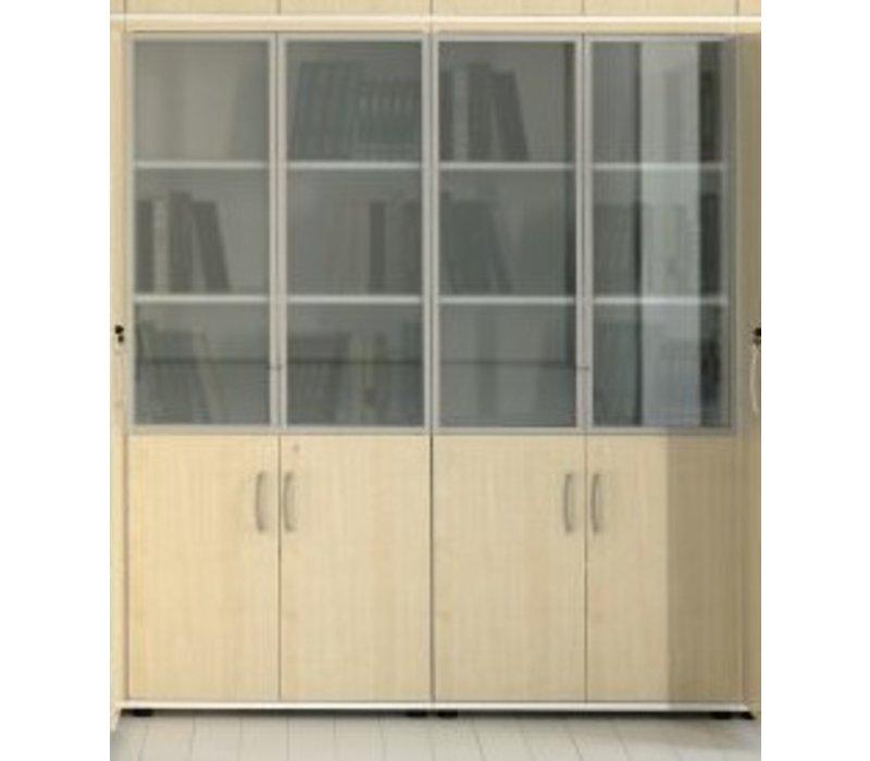 basic armoire verrouillable en verre brand new office. Black Bedroom Furniture Sets. Home Design Ideas