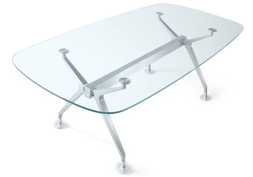 Interstuhl Silver vergader- conferentietafel in glas