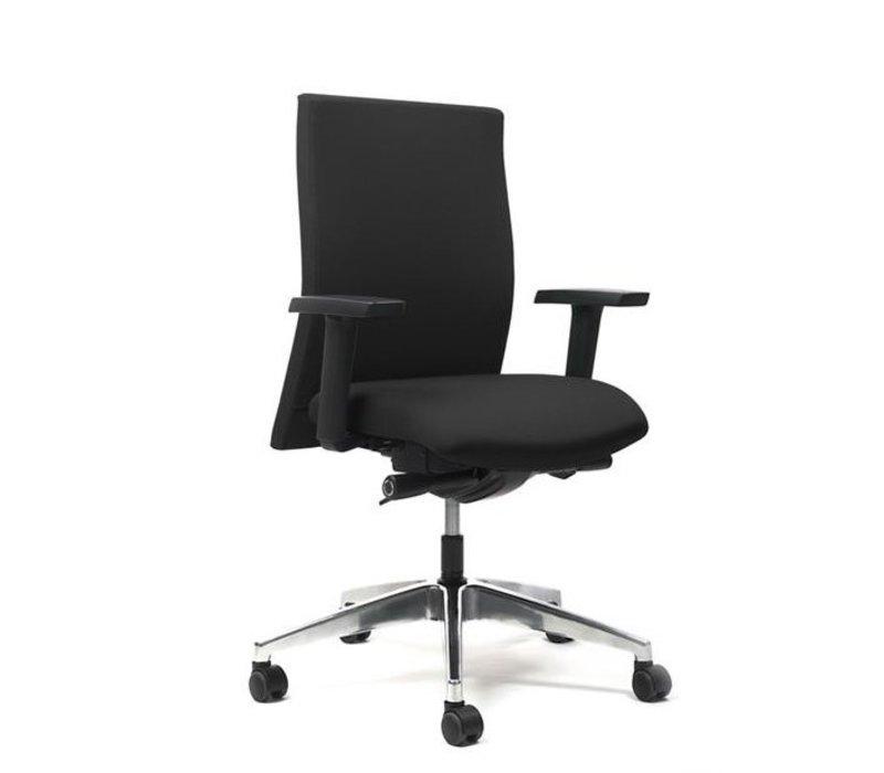 Bureaustoel met armleuningen - zwart