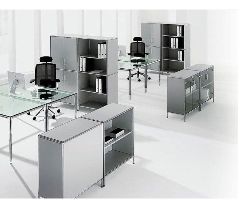 bosse s line bureau of meetingtafel vierkant 100cm brand new office. Black Bedroom Furniture Sets. Home Design Ideas
