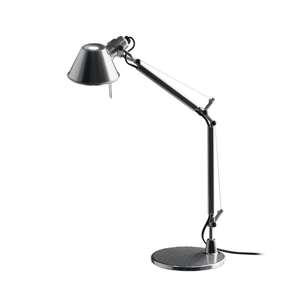 artemide lampe tolomeo avec soccle 129cm poli anodis led brand new office. Black Bedroom Furniture Sets. Home Design Ideas