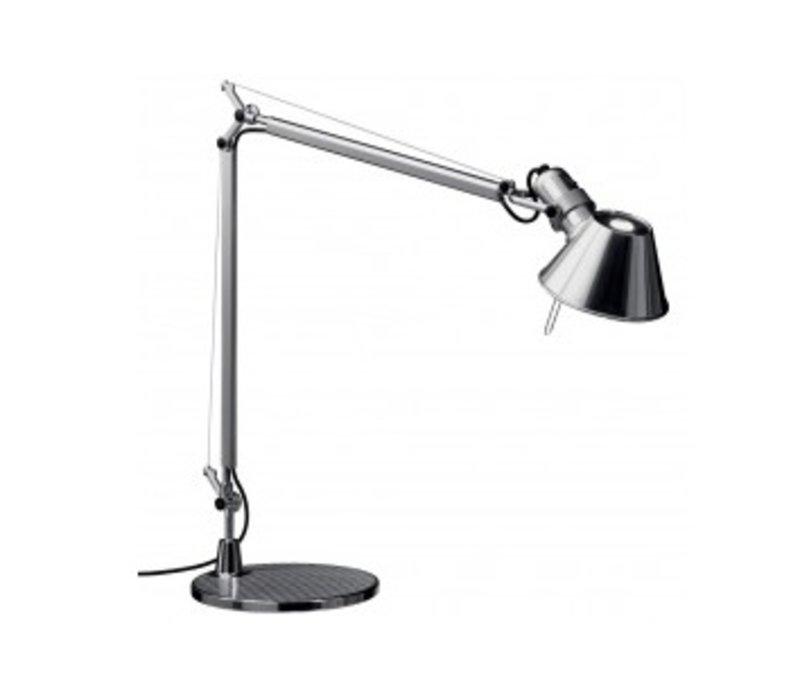 Lampe Tolomeo avec soccle 129cm - poli & anodisé HALO ou LED