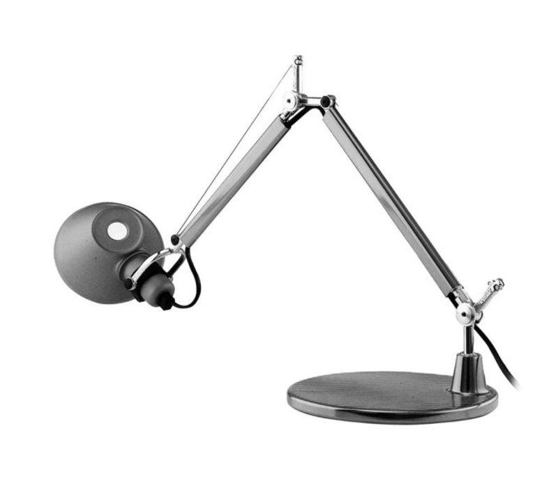Tolomeo bureaulamp met voet 129cm - Aluminium HALO of LED