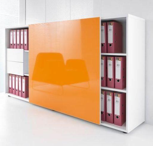 Zig zag armoire avec porte coulissante brand new office for Meuble zig zag