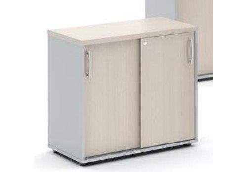 Mdd Basic armoire bas étroit avec porte coulissante