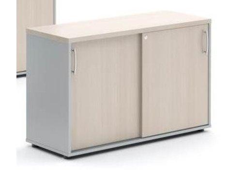 Mdd Basic armoire large bas étroit avec porte coulissante