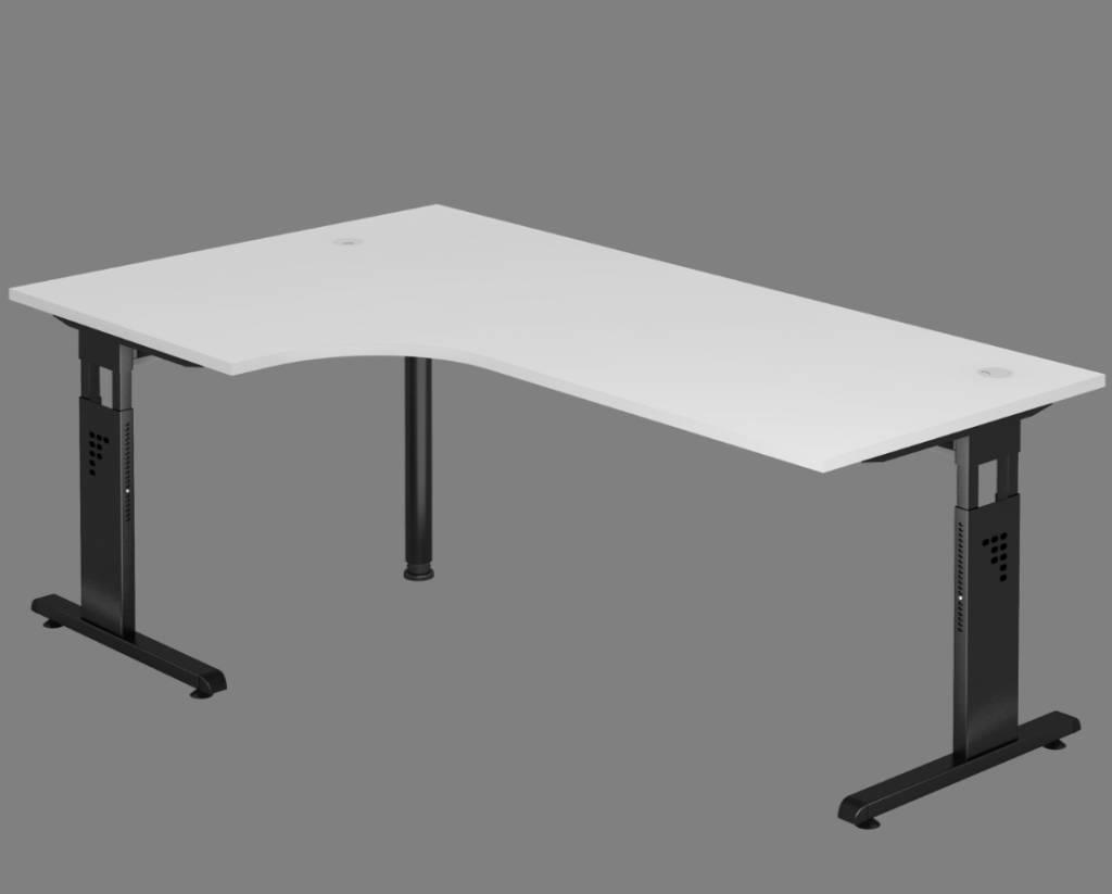 Bureau en angle officina r glable en hauteur brand new office - Bureau hauteur reglable ...