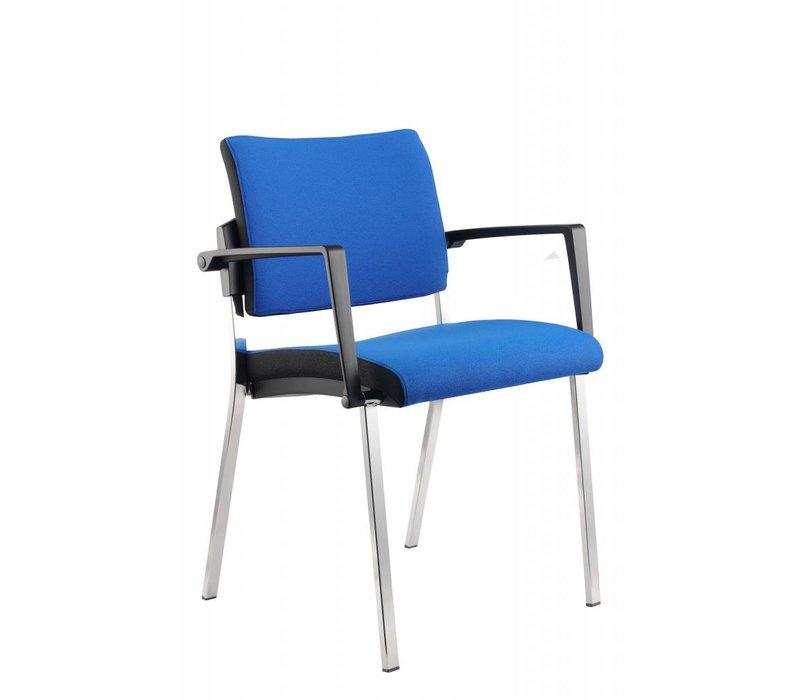 Chaise Officina en tissu, empilable
