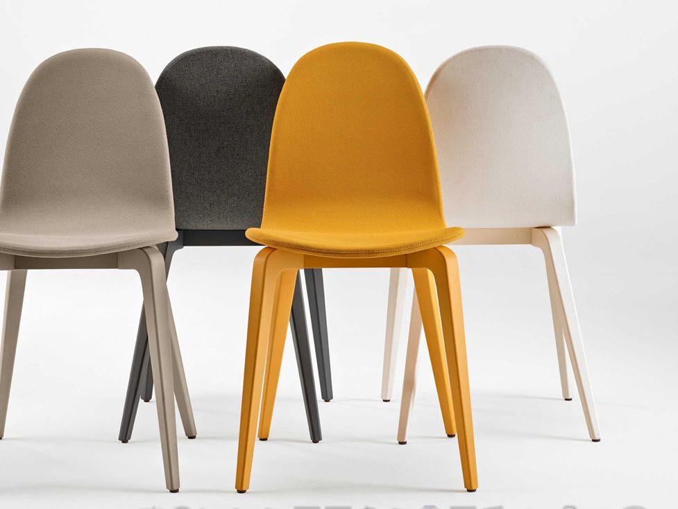 Ondarreta bob chaises en simili cuir et bois brand new - Chaise bois et simili cuir ...
