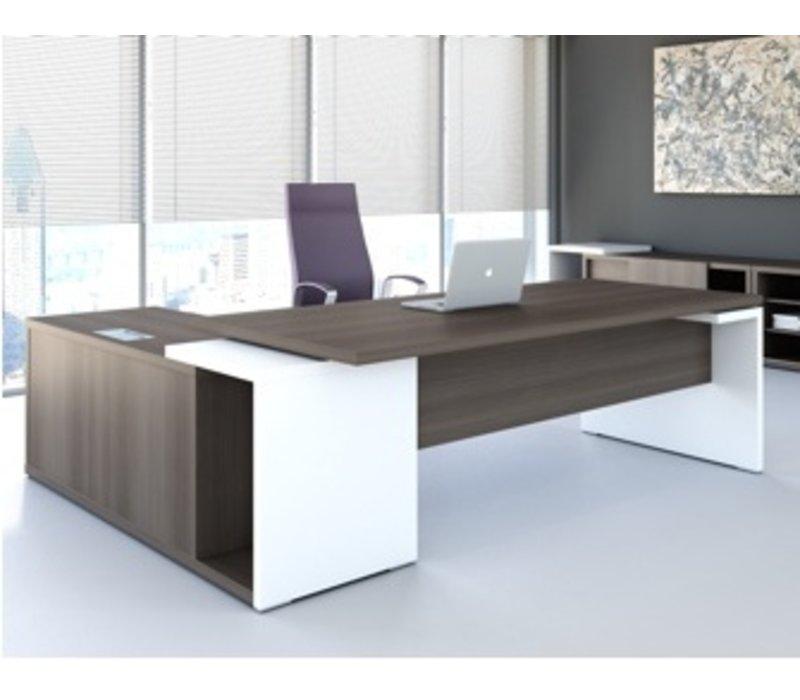 Bureau mito avec meuble porteur brand new office for Dimension table bureau