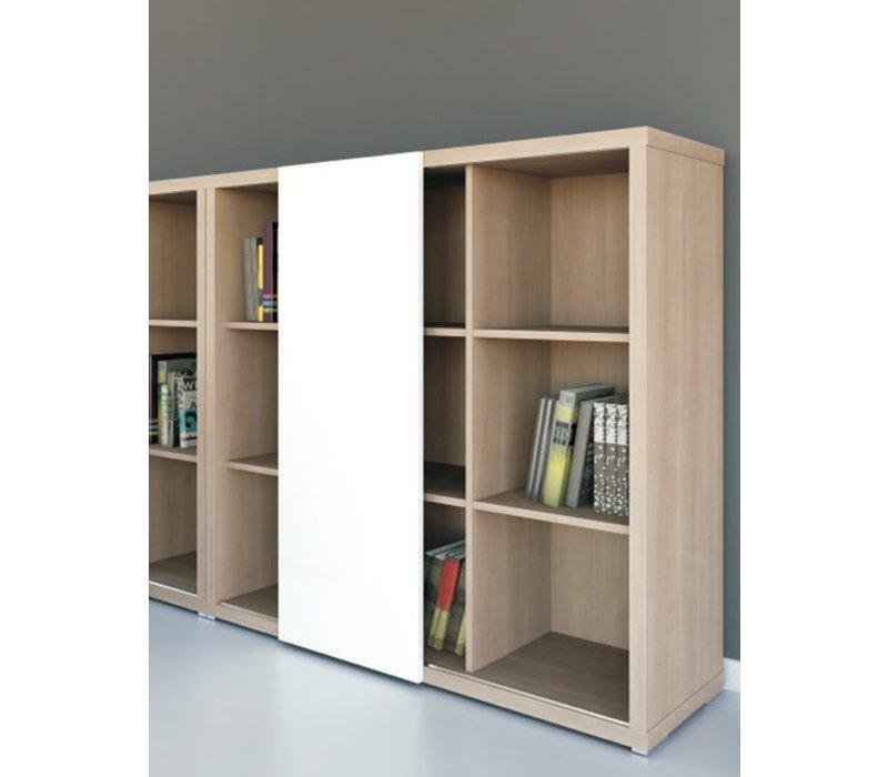 Mito meuble de rangement avec porte coulissante brand - Rangement porte coulissante ...