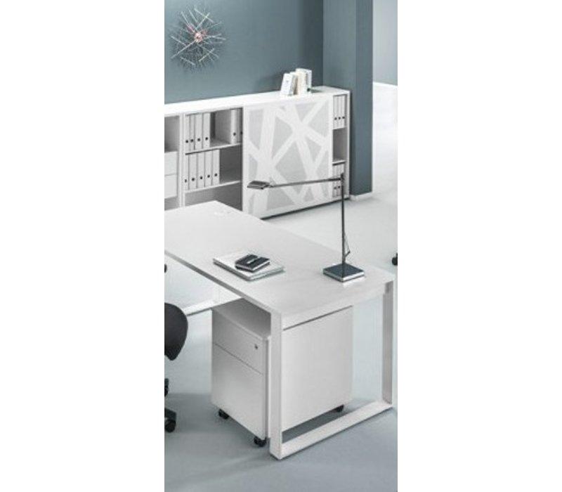 Ogi q bureau avec meuble bas brand new office for Meuble bureau office depot