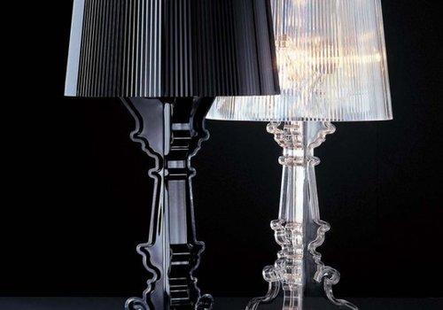 Kartell Bourgie lampe transparent/noir