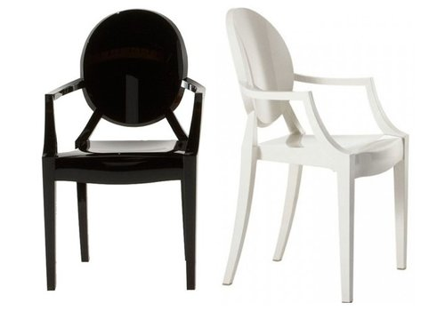 Kartell Louis Ghost stoel in zwart of wit