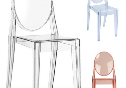 Kartell Victoria Ghost chaise en transparent
