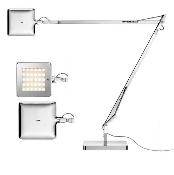 Flos kelvin led bureaulamp chroom brand new office for Topdeq lampen