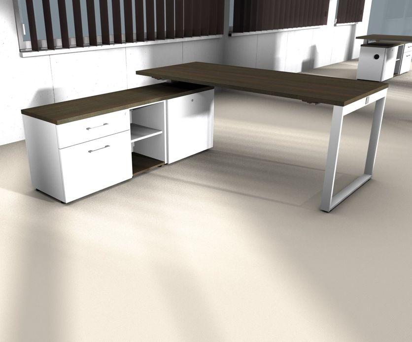 Yan z bureau avec meuble bas brand new office for Meuble bureau 180 cm