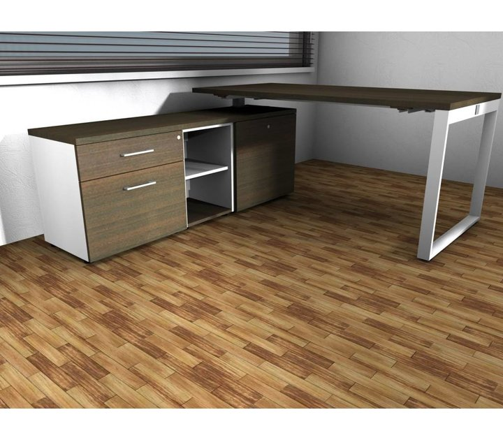 yanz bureau avec meuble bas brand new office. Black Bedroom Furniture Sets. Home Design Ideas