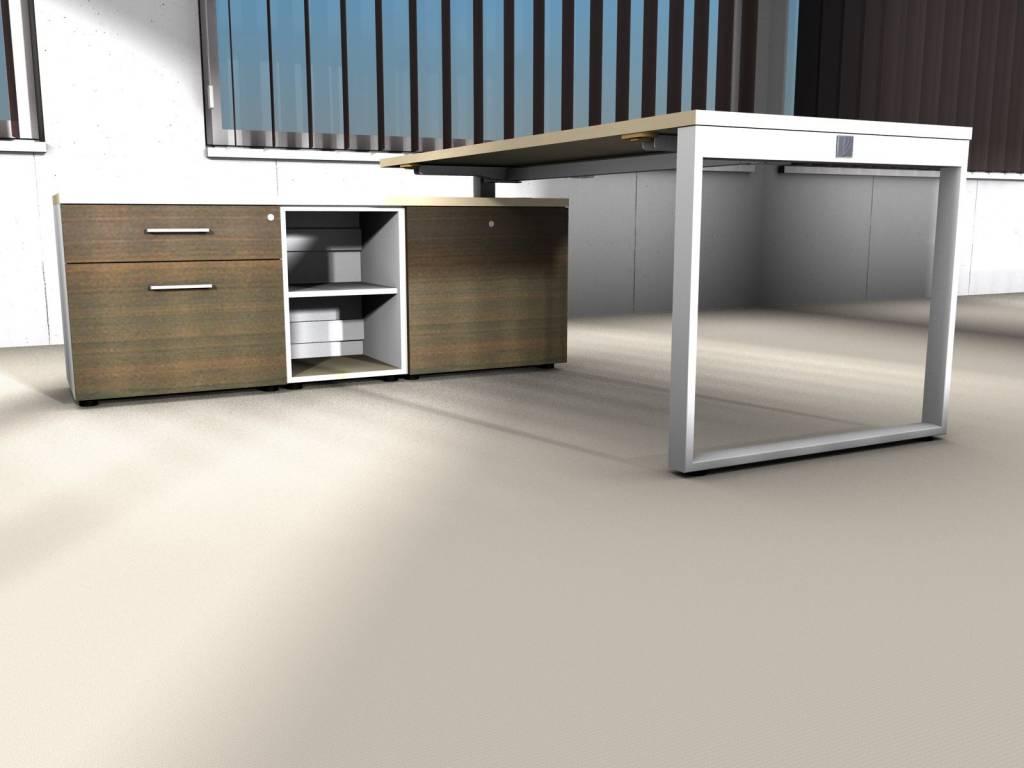Yan z bureau avec meuble bas brand new office for Meuble bureau office depot