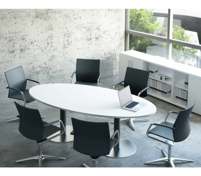 st meeting table de conf rence ovale brand new office. Black Bedroom Furniture Sets. Home Design Ideas