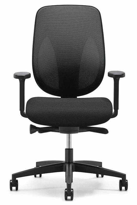 Giroflex fauteuil de bureau 353 noir brand new office - Chaises de bureau ergonomiques ...