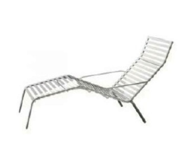 Striped chaise longue brand new office for Chaises longues de plage