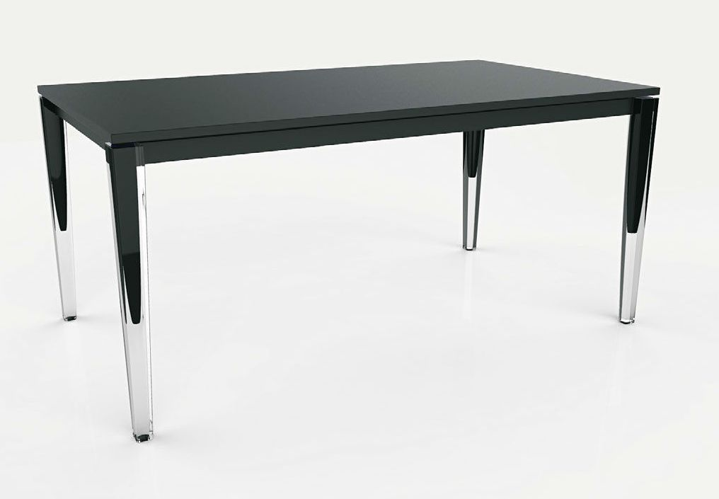 Table rallonge design noir blanc laque stella4 jpg pictures to pin on pinterest - Table blanc laque rallonge ...
