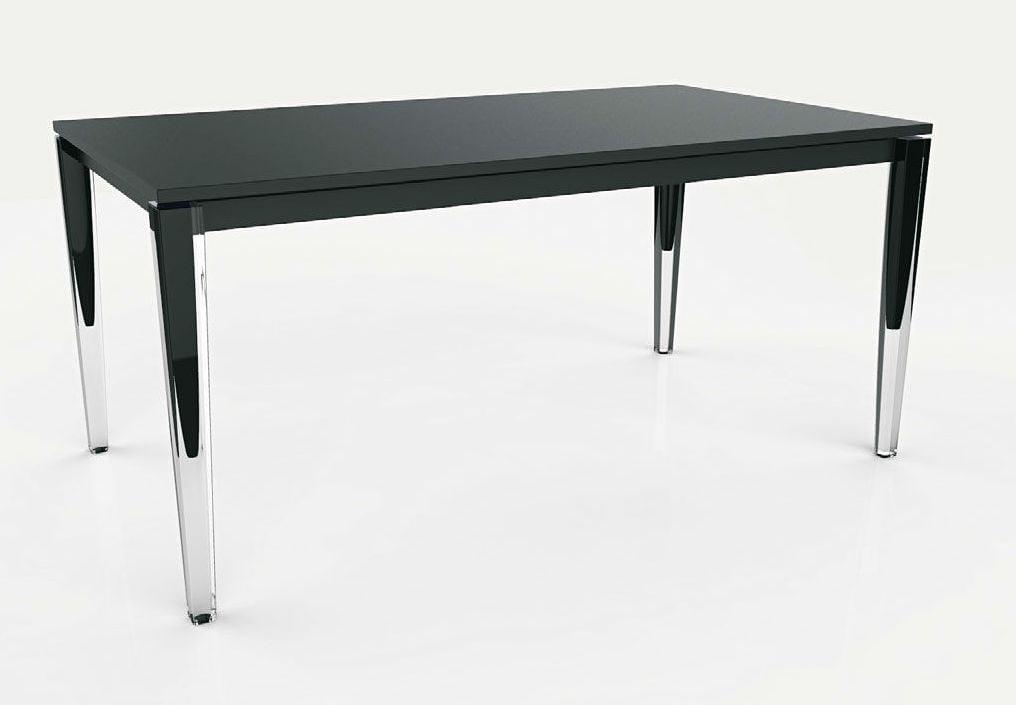 Table rallonge design noir blanc laque stella4 jpg pictures to pin on pinterest - Table blanc laque rallonge ...