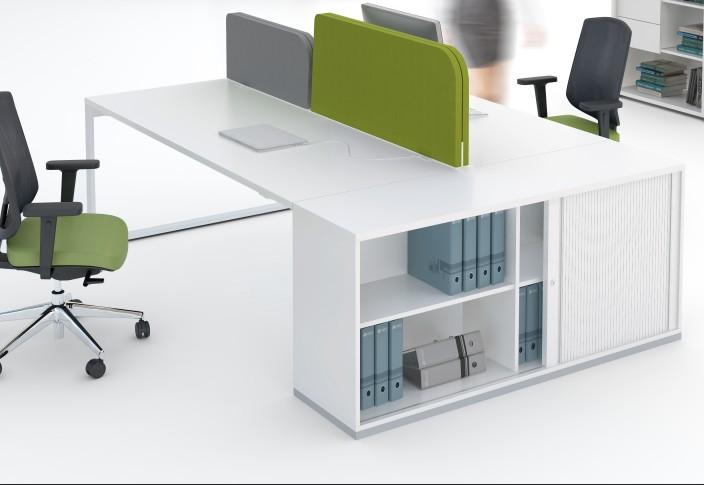Mdd yan z lots avec armoire pour 2 4 ou 6 personnes for Mobilier bureau 4 personnes